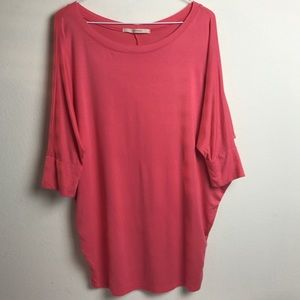 41 Hawthorn oversized coral dolman sleeve blouse